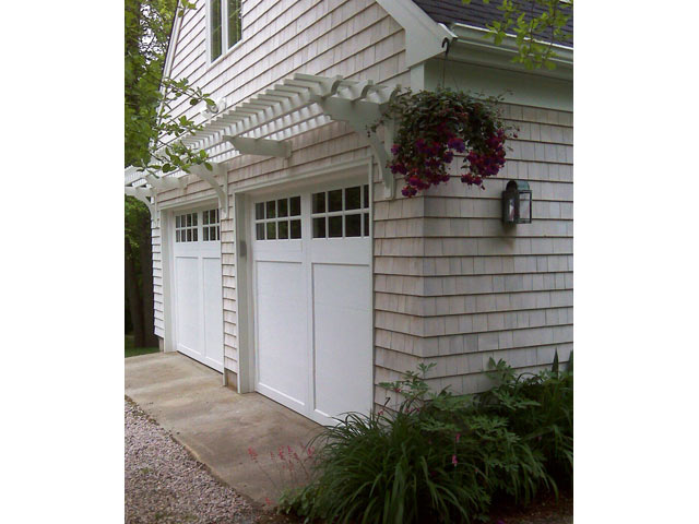 2 - Pergola Above Garage Doors - Double Car, Two Door – ArborOriginal
