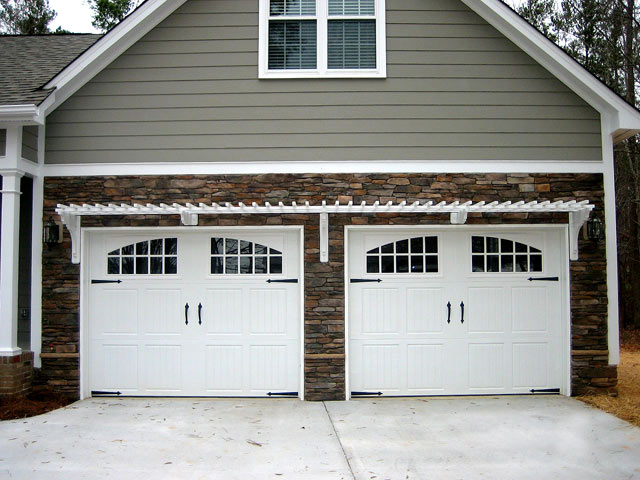 Double car two door arbororiginal for Two car garage doors