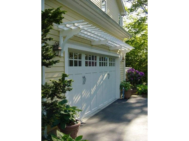 15   After, Double Garage Door Trellis