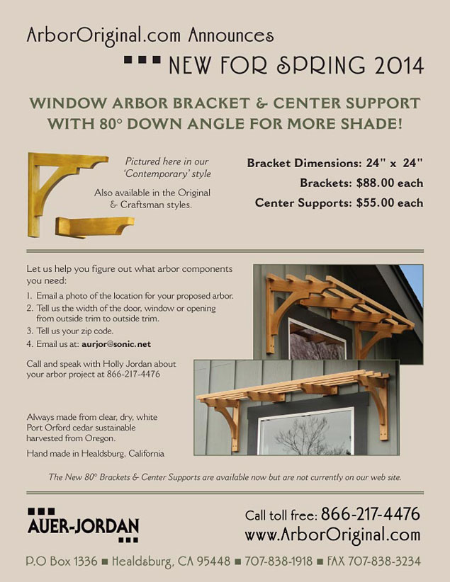 Auer-Jordan Window Arbor Catalog