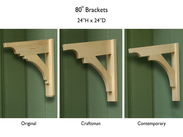 80-degree brackets