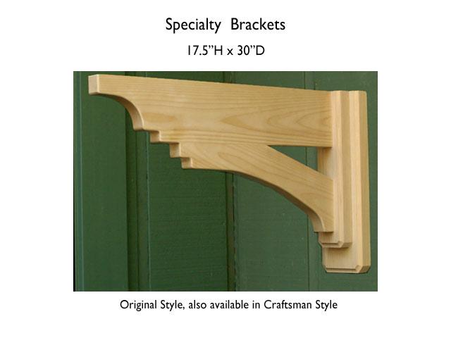 30x17.5 specialty brackets
