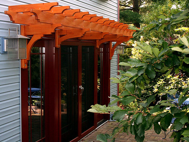 Pergola above French doors