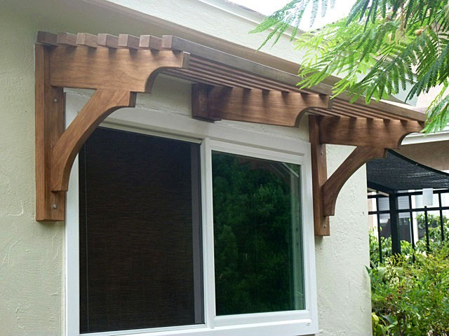 Window pergola for shade