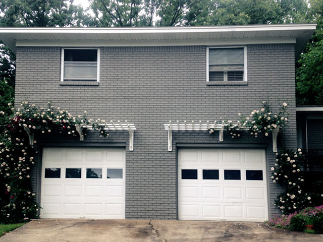 Trellis above garage