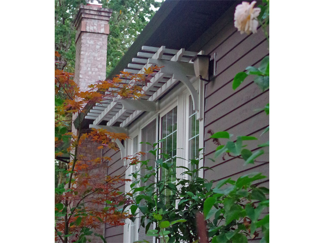 Trellis above Patio Door